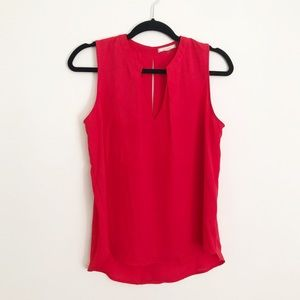 Pleione sleeveless red blouse or top S